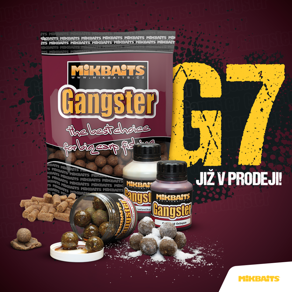 Mikbaits Gangster Boilies 1kg G7 Master Krill 24mm