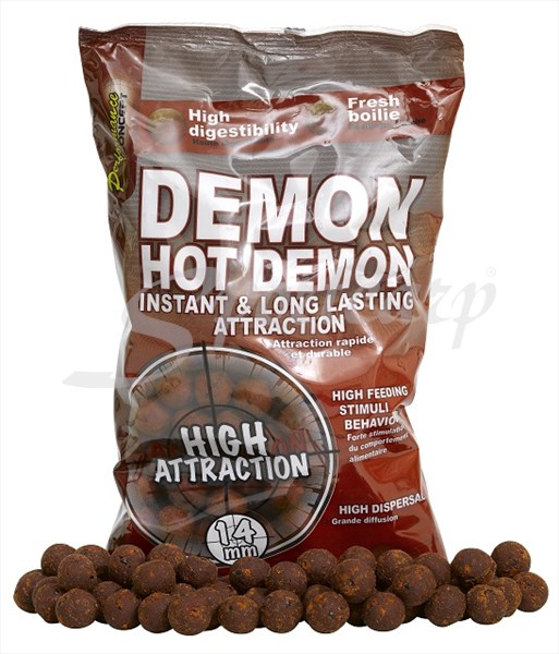 boilies Starbaits Hot Demon 14mm / 1kg