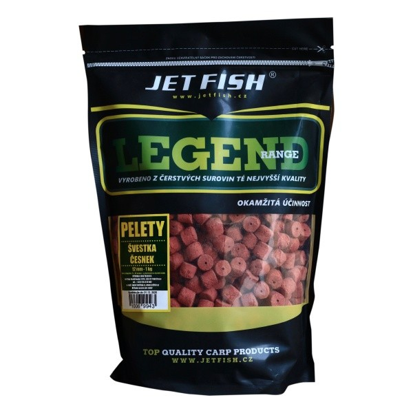 JET FISH - Pelety Legend Range 4mm / 1kg / Broskev