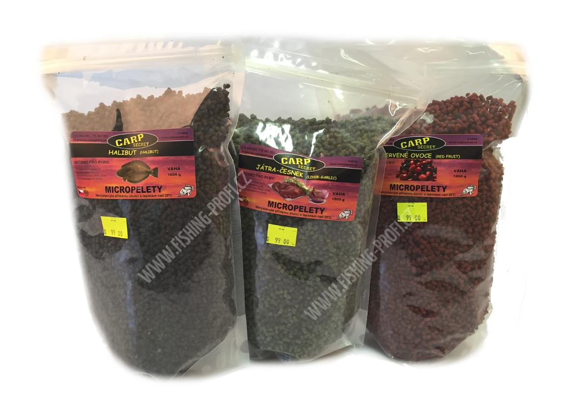 CARP SECRET - Pelety Mikropelety 1kg / 3mm / red halibut