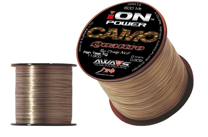 vlasec Awa-Shima Ion Power Camo Quattro 600m / 0,25mm / 8,4kg
