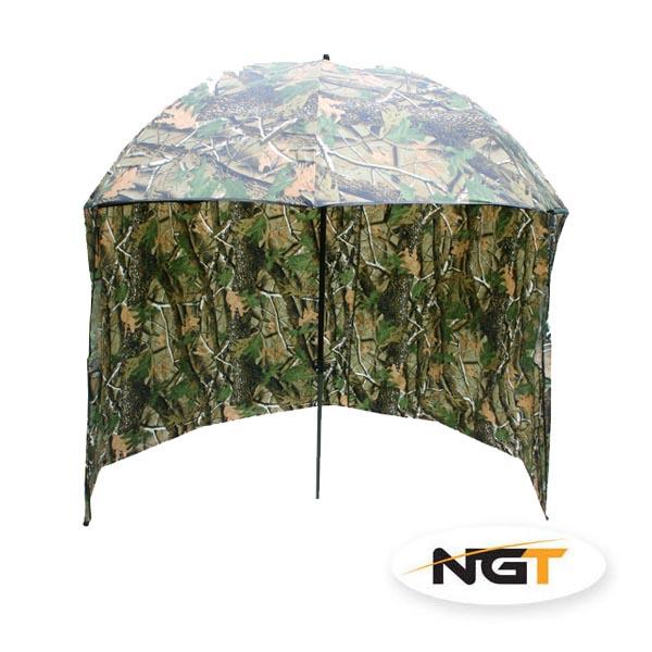 deštník s bočnicí kamuflážní NGT 220cm