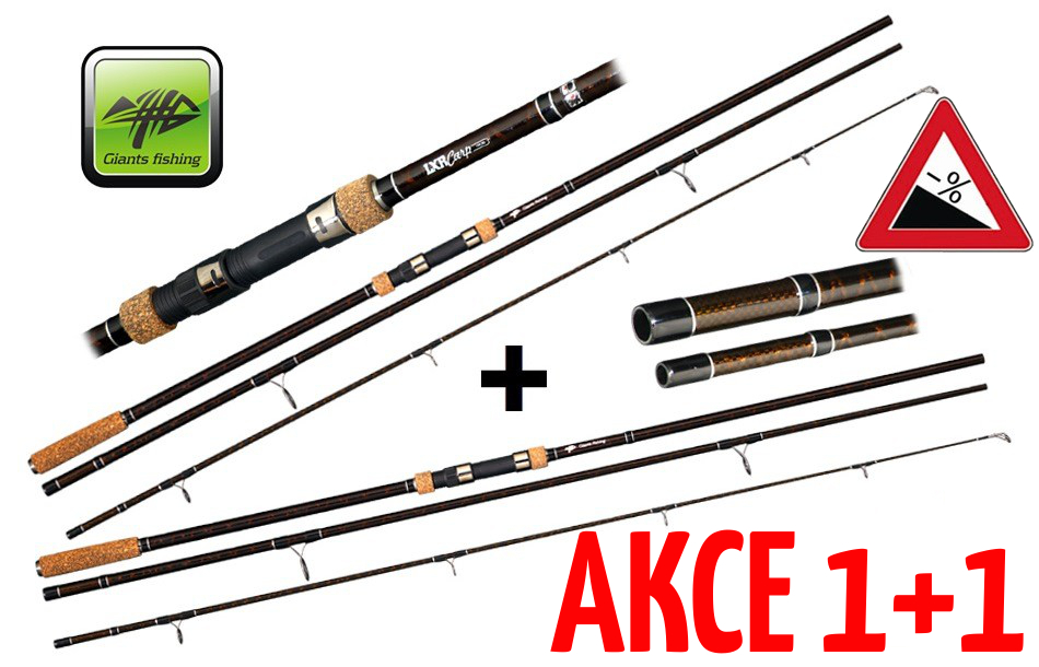 AKCE 1+1 - Giants Fishing LXR Carp 360cm / 3,0lbs. / 3-díl
