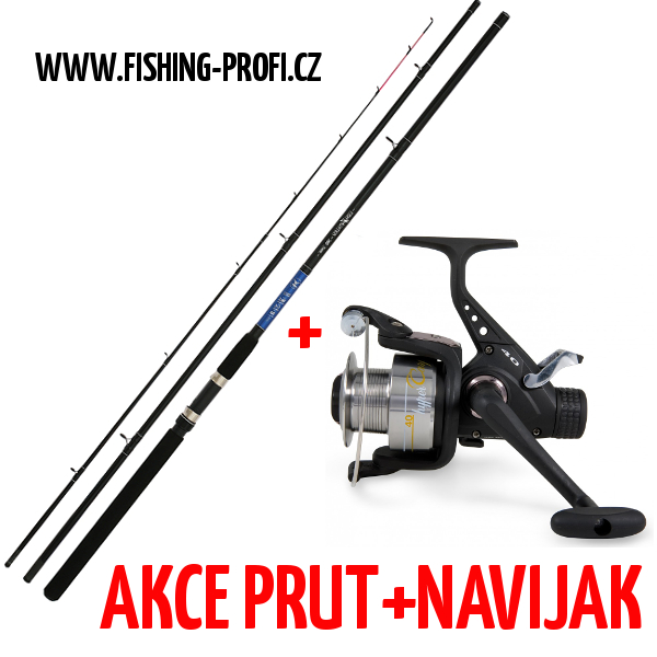 Mikado Fish Hunter Feeder 330cm do 100gr. + Lineaeffe Hyper Carp 40