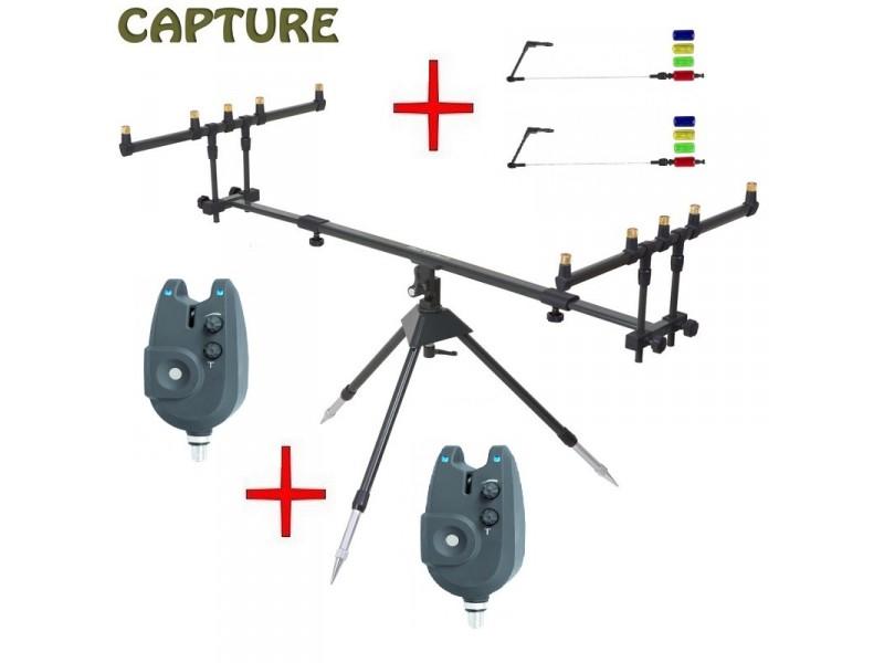 stojan na pruty JAF Capture Tripod Accure Pod + 2ks Passion RZ + swinger