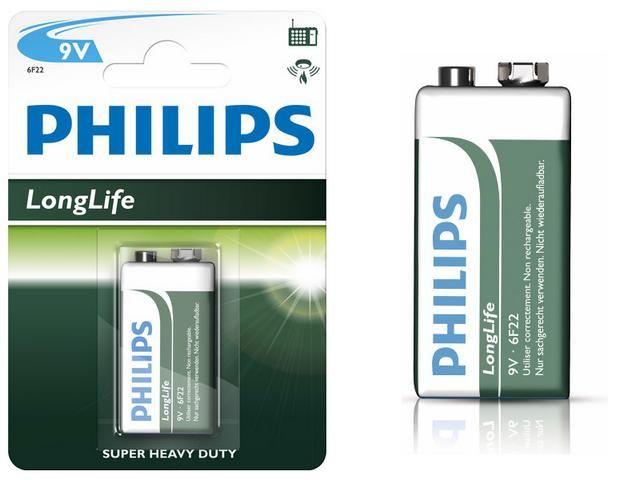 baterie Philips 6F22 9V Longlife