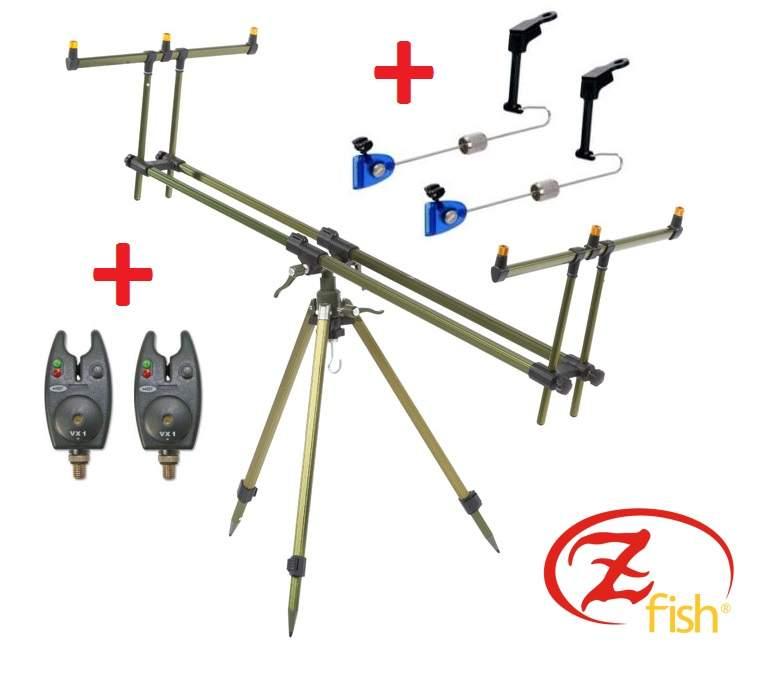 stojan na pruty Zfish Tripod Select 3Rods + 2xNGT + 2xSwinger Extra Carp