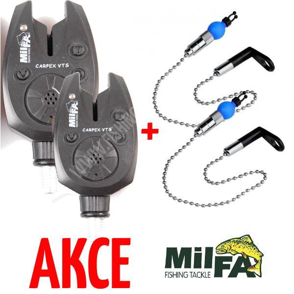 2ks Milfa Carpex VTS + 2ks řetízkový swinger Milfa Swinging Detector