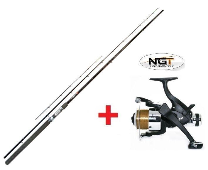 NGT Feeder Max Medium 300cm/75gr. + Carp Runner EG40