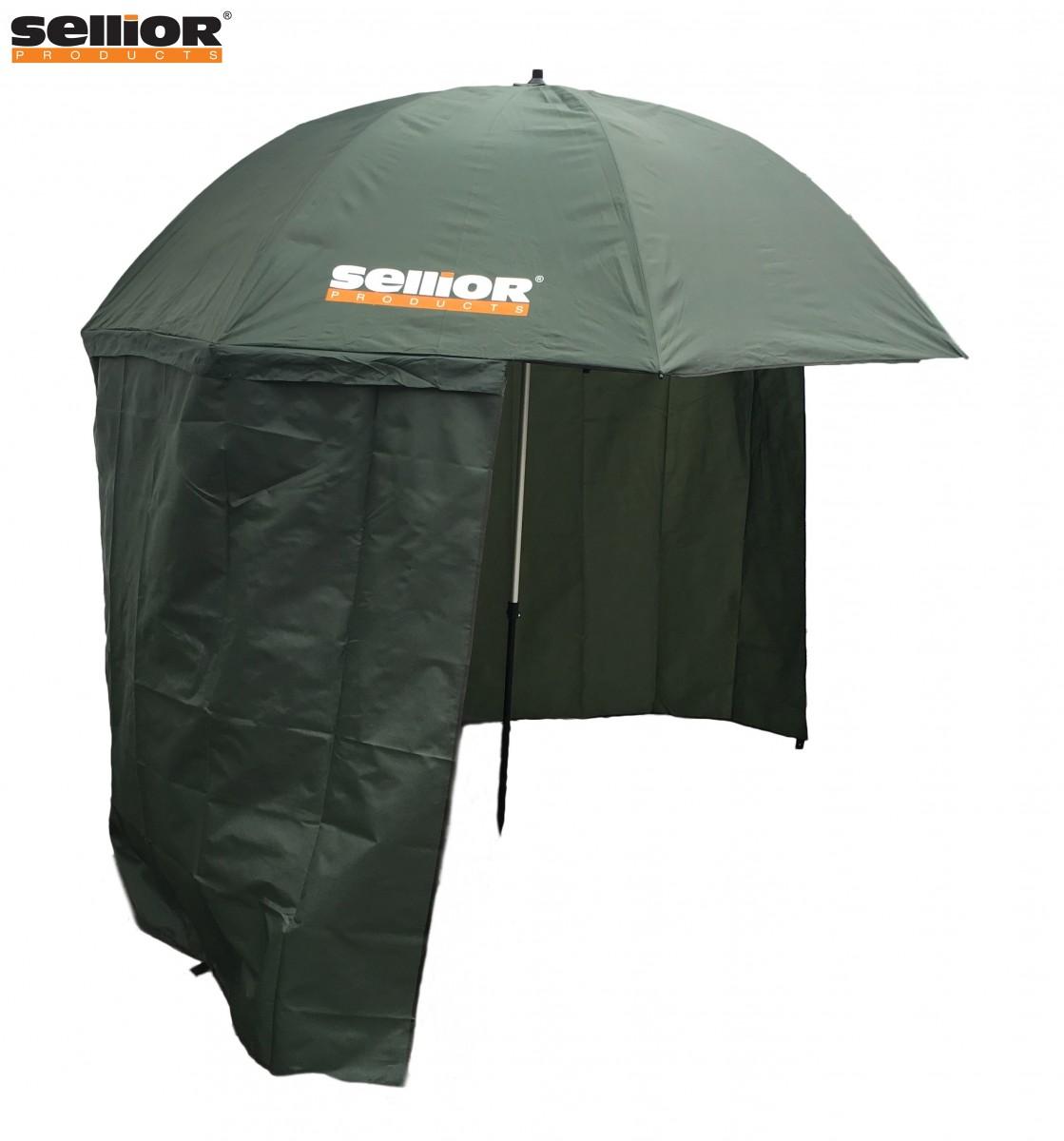 deštník s bočnicí Sellior Element Half Cover 250