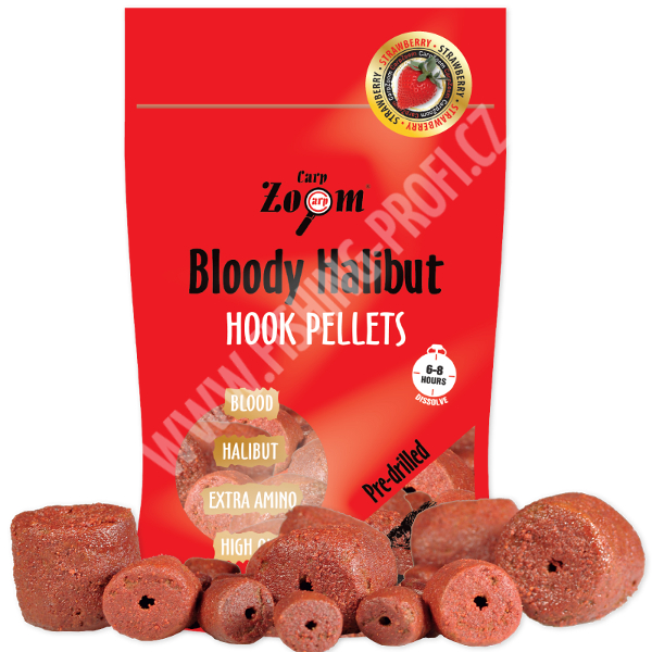 CARP ZOOM Pelety Strawberry Halibut Hooks Pellets 150gr.
