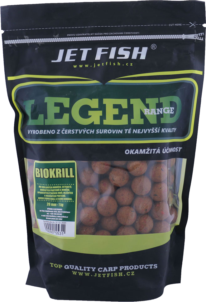 JET FISH Boilies Legend Range Biokrill 1kg 20mm