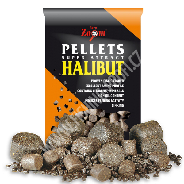 CARP ZOOM - Pelety Feeding Black Halibut Pellets 2,5kg