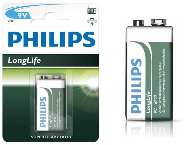 PHILIPS - Baterie 6F22 9V Longlife