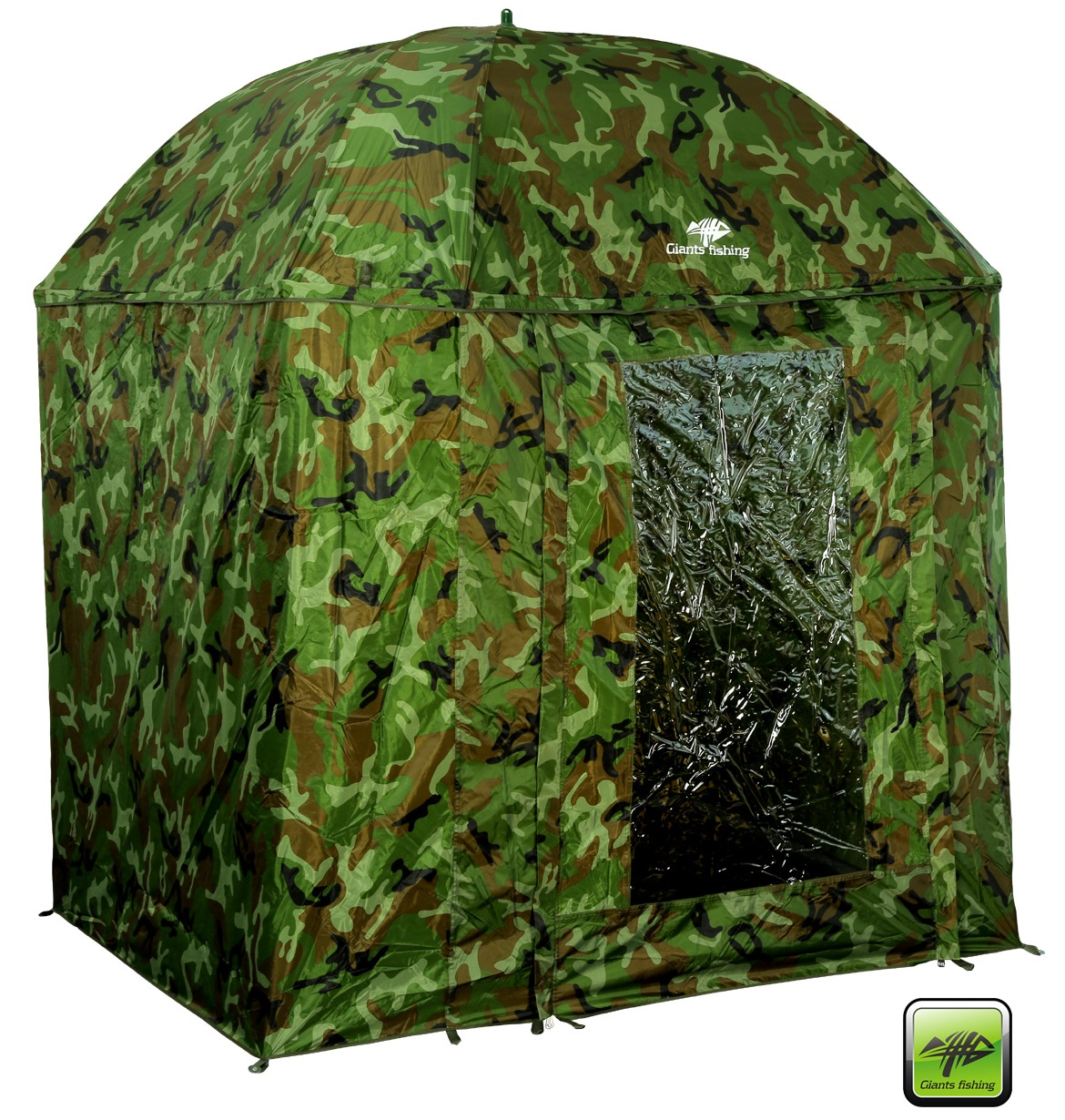 GIANTS FISHING - Deštník s bočnicí  Full Cover Square Camo Umbrella 250