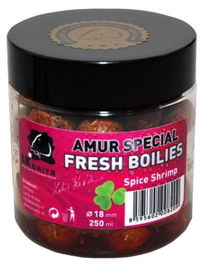 LK Baits Fresh boilie 18mm / 250ml / Amur Special Spice Shrimp