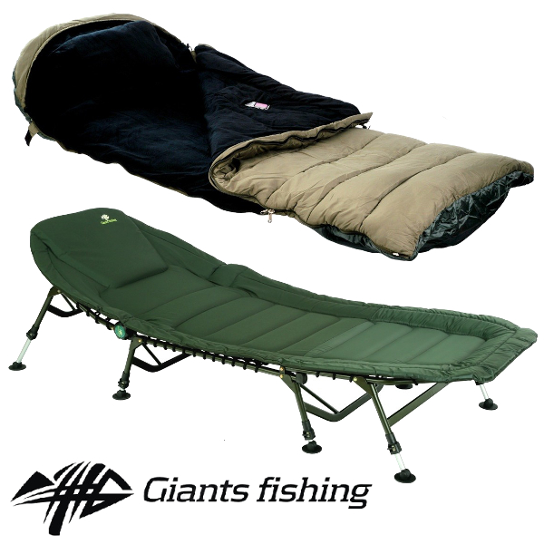 GIANTS FISHING - Lehátko Specialist Plus 8leg Bedchair + Spací pytel 5 Season Maxi