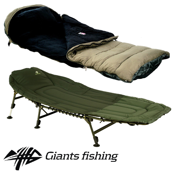 GIANTS FISHING - Lehátko Specialist Bedchair 6leg + Spací pytel 5 Season Maxi