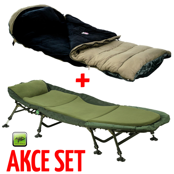 lehátko Giants Fishing Bedchair Fleece 8leg MKII + GF 5 Season Maxi