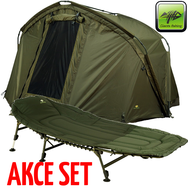 bivak Giants Fishing CLX Bivvy 1 Man + Specialist Bedchair 6leg
