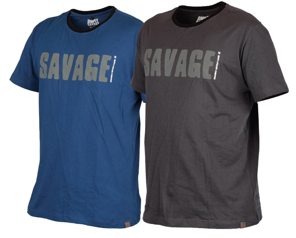 tričko Savage Gear Simply Savage Tee Blue vel. L