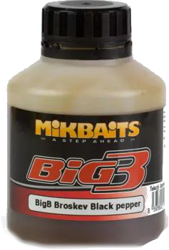 MIKBAITS - Booster Legends 250ml / BigB Broskev&Black pepper