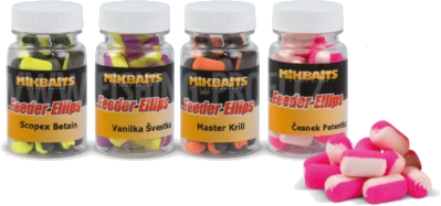 MIKBAITS - Hotové boilies XXL Method Feeder Ellips 10x14mm