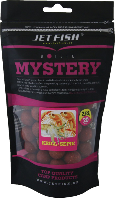 JET FISH Boilies Mystery Krill Sépie 250g 20mm