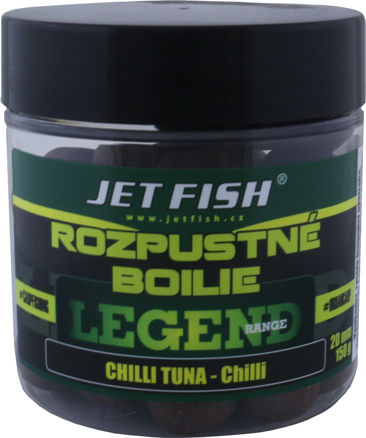 JET FISH - Rozpustné boilies Legend Range 130gr. / 20mm / CHILLI TUNA