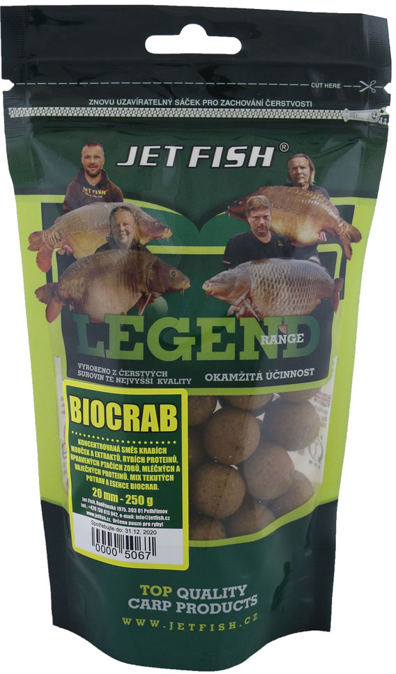 JET FISH Boilies Legend Range Biocrab 250gr 20mm