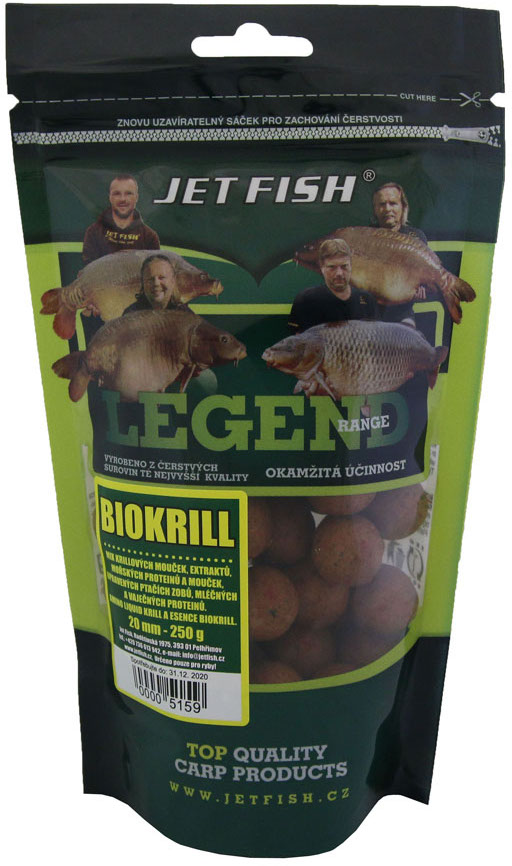 JET FISH - Boilies Legend Range 250gr. / 20mm / BIOKRILL