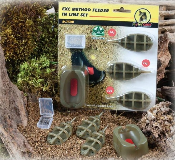 EXTRA CARP - Method Feeder Set 20,25,30gr. + formička