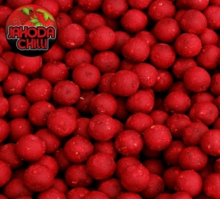 BLACK CARP Boilies Jahoda Chilli 1kg 20mm