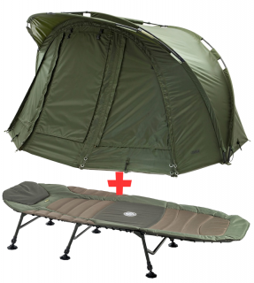 MAD - Bivak Two Man Dome + lehátko Mivardi Premium XL6