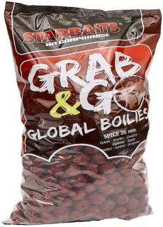 STARBAITS Boilies Grab&Go Global Spice 10kg 20mm