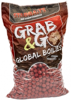 STARBAITS Boilies Grab&Go Global Strawberry Jam 10kg 20mm