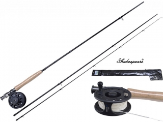 SHAKESPEARE Muškařský set Omni Fly 2,4m 5WT 3pcs