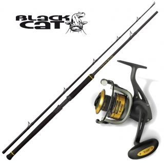 BLACK CAT Prut Black Passion Boat 240cm/600gr. + BLACK CAT Naviják Passion Pro FD 680