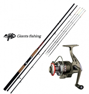 GIANTS FISHING Prut CLX Feeder TR Medium 11ft + GIANTS FISHING Naviják SPX 3000FD
