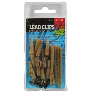 GIANTS FISHING - Kompletní sada na boční olovo Lead Clips Camo Set