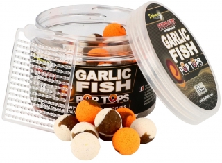 STARBAITS Vyvážené boilies Garlic Fish Pop Tops 60g / 14mm
