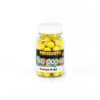 MIKBAITS - Plovoucí boilies Fluo Pop-up boilie 60ml / 10mm / ANANAS