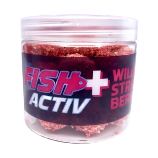 LK BAITS Rozpustné boilies Fish Activ Plus 200ml / WILD STRAWBERRY