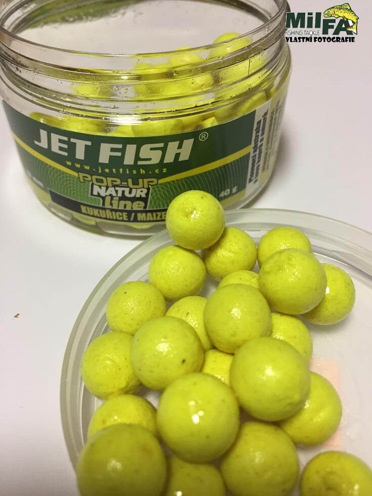 Jet Fish Plovouci boilies Pop up Natur Line Kukurice